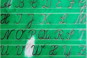 Schreibspur-Tafel lateinische Ausgangsschrift